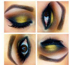 Maquiagem com dourado