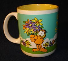 Garfield Collectible Mug Get Well Soon 1978 Paws by Tarkau on Etsy, $12.00