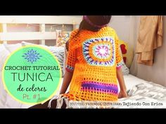 TUNICA DE COLORES Crochet Tutorial Parte #2 | Tejiendo Con Erica - YouTube