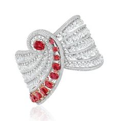 Boghossian Reverence bracelet with Burmese rubies and briolette diamonds