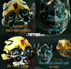 Ahh bumblebee... Transformers Memes, Transformers Bumblebee, Transformers Optimus Prime, Transformer 1, Sound Waves, Sci Fi Fantasy, Tmnt, Cartoons, Fandoms
