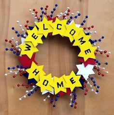 """Welcome home"" deployment wreath - MilitaryAvenue.com"