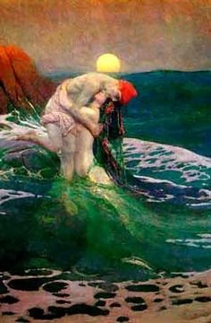 """The Mermaid, Howard Pyle -""""I am a creature of the Fey  Prepare to give your soul away  My spell is passion and it is art  My song can bind a human heart  And if you chance to know my face  My hold shall be your last embrace."""""""