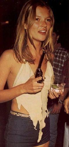 Kate Moss...and a gun.