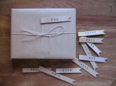 Brown paper packages.  Personalized.
