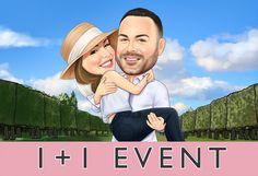 Excited to share this item from my #etsy shop: Wedding & Couple caricature #art #print #digital #caricature #specialgift #uniquegift #weddinggift #birthdaygift #valentinedaygift