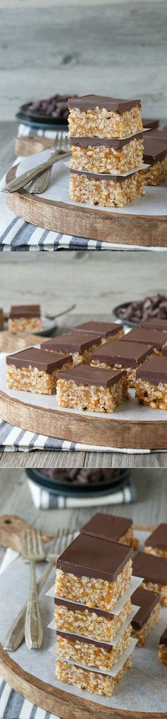 A twist on classic scotcheroos packed with pumpkin flavor! These are a favorite in our house!