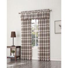 S. Lichtenberg Dawson Plaid Curtain Panel, Brown