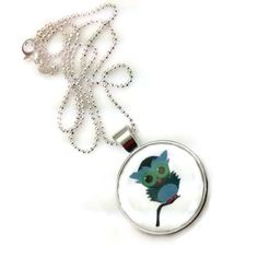 Mama Designs Glass Dome Owl Pendant | Overstock.com Shopping - The Best Deals on Necklaces