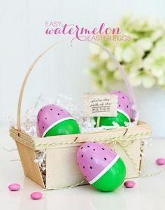 DIY Easter : DIY Watermelon Easter Eggs