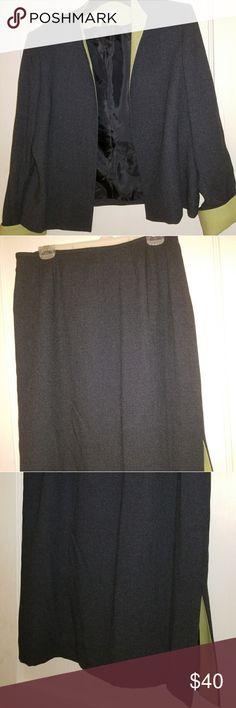 Kasper A.S.L., Dark Grey  Lined Suit Kasper A.S.L., Dark Grey Lined Suit, Size14 Kasper Other