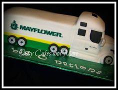 Otra idea para hacer una tartas con forma de camión.