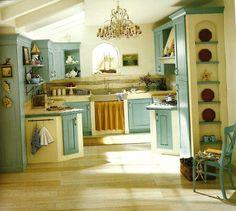 Cucina Carla - cucina country in laccato verde | Kitchen | Pinterest ...