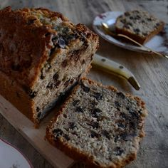 Contigo en la playa! : BANANA BREAD WITH CHOCOLATE O PAN DE PLATANO CON CHOCOLATE