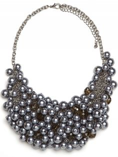 Love this Black Pearl bib necklace. A great transitional piece from day to night!