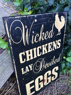 Typography-Wicked Chickens lay deviled eggs by Perfectlypicky