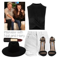 """""""Interview with Niall and Harry."""" by fireproofnarry ❤ liked on Polyvore featuring Topshop, Steve Madden, Mimco, rag & bone and narry"""