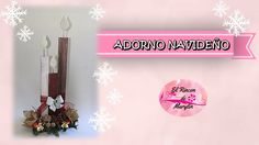 Ideas para navidad Adorno navideño con velas de carton