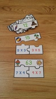 Commutative Property of Multiplication Puzzles are a valuable asset to any 3rd or 4th grade classroom. This is a great resource for review, math centers, group work and for interventions. This puzzle set includes 20 beach themed puzzles and an optional center instruction page. Your students will love diving into the commutative property of multiplication with this product!