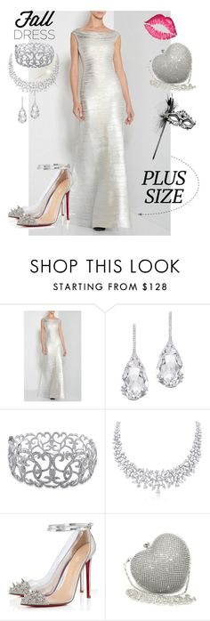 """""""Plus Size Silver Bandage Gown"""" by poshgirlus on Polyvore featuring Plukka, Ice, Posh Girl and Masquerade"""