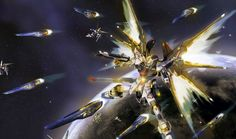 The ZGMF-X20A Strike Freedom Gundam (aka Strike Freedom, Freedom) is the successor mobile suit of the ZGMF-X10A Freedom. Appearing in Mobile Suit Gundam SEED Destiny, it is piloted by Kira Yamato.