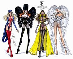 #Hayden Williams Fashion Illustrations #Victoria's Secret 2014 collection by Hayden Williams.