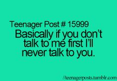 Pretty much. I hardly ever talk to my parents hehe.