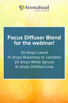 """We're going to have a great time on the Aromahead webinar, """"Aromatherapy for Natural Living: Reduce Allergies Naturally"""" Do you have allergies that affect your sleep? Years ago, I used essential oils to treat my allergies. I came up with some easy and effective recipes that relieved my symptoms… FOR GOOD! I created this webinar to show you how I did it using my favorite essential oils and Aromatherapy blends. http://www.onlinemeetingnow.com/register/?id=sdvfgy361x&"""