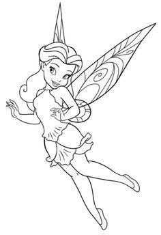 Muitos desenhos da fada Sininho Disney para colorir, pintar, imprimir! Moldes e…