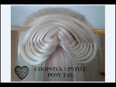 ChopStick UpStyle Pony Tail HairStyle / HairGlamour / - YouTube...could incorporate this into actually being a chopstick hairstyle also