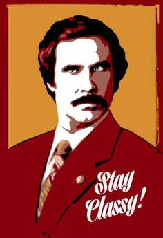 Ron Burgundy, Anchorman, Will Ferrell Pop Art illustration - Poster size art print available in multiple sizes. on Etsy, $30.00