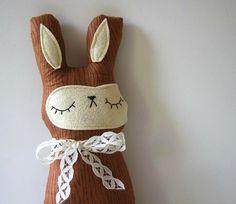 Willa Woodgrain the Woodland Bunny Stuffed Pillow/Toy by sleepyking on Etsy