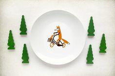 Fox plate von kokokoshop auf Etsy, $18.00