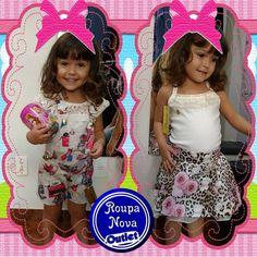 #Alice vestindo as novidades da marca Pakita, aqui na Roupa Nova Outlet. #RoupaNova #Outlet #ModaInfantil #PreçoBom