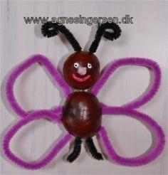 kastanjesommerfugl fra min blog: http://agnesingersen.dk/blog/kastanje-sommerfuglen/ Chestnut Kastanie