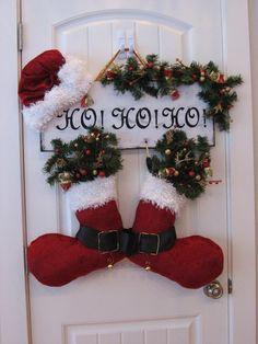 botas navideñas para puerta