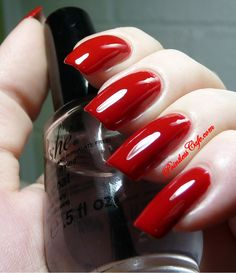 butter LONDON Come To Bed Red Polish   Pointless Cafe   THE perfect red