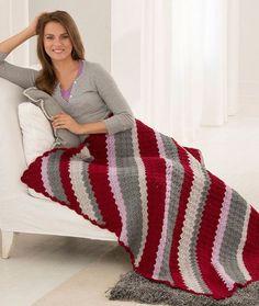Classic Corner-to-Corner Throw Free Crochet Pattern in Red Heart Yarns