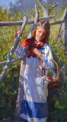 Summer Sunlight by Albin Veselka Oil ~ 22 x 12