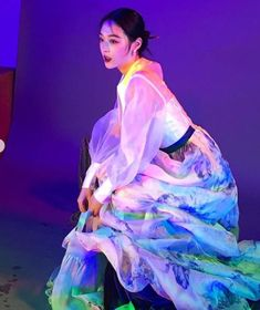 Sulli Choi, Choi Jin, Aesthetic People, Aesthetic Images, Creative Portraits, Art Model, Pose Reference, Traditional Outfits, Color Inspiration