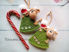 Christmas Tree Garland, Crochet Christmas Trees, Christmas Tree Pattern, Christmas Crochet Patterns, Crochet Animal Patterns, Easy Christmas Crafts, Amigurumi Patterns, Christmas Tree Decorations, Crochet Baby Clothes
