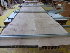 Tabletop has now been edged and glued together . Oak Table, Dining Table, Tabletop, Natural, Furniture, Home Decor, Oak Desk, Decoration Home, Table