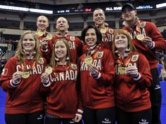 Canada's Olympic curling teams led by Jennifer Jones and Brad Jacobs. Olympic Team, Olympic Games, Olympic Curling, I Am Canadian, Jennifer Jones, Commonwealth Games, O Canada, Winter
