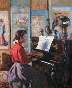 Armand Guillaumin - Étude au piano