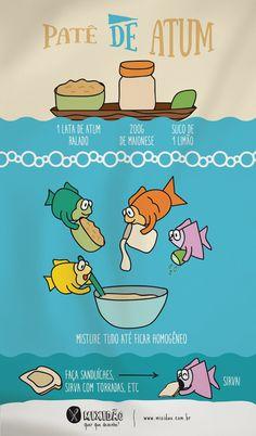 receita infográfico de patê de atum