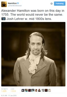 what's your name, man? [previously: Seth Stewart as a revolutionary, Daveed Diggs as Thomas Jefferson, Betsy Struxness as a revolutionary, Andrew Rannells as King George III, Christopher Jackson as George Washington, Phillipa Soo as Eliza Hamilton,...