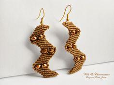 Zeus - orecchini a macram� - micromacram� earrings