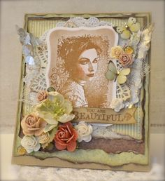 Lovely stamps from Stempelglede and papers from Pion.  - Cathrine Sandvik