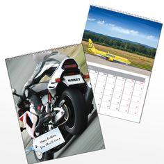 Personalised Vehicles Calendar Present