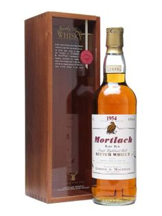 A vintage Mortlach distilled in 1954 and bottled by Gordon & Macphail after over fifty years maturing in sherry casks.